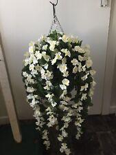 Beautiful Artificial  Ivory/white Trailing Hanging Basket