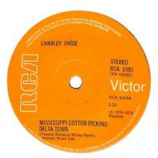 """Charley Pride - Mississippi Cotton Picking Delta Town  - 7"""" Record Single"""