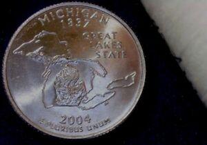 2004-D Denver Mint Michigan State Quarter BU