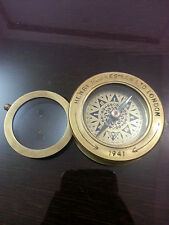 Nautical Vintage Spencer Compass With Magnifier lens Maritime Ship Working item.
