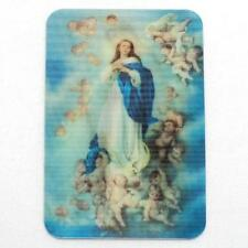 Lenticular 3D Effect Holographic Stereoscopic Assumption Virgin Mary Holy Card