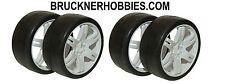 1:8 SWEEP GT (4) Rubber Slick tires White 6 Spoke Rim 45 shore Free delivery SRC