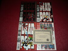 [BD COMICS MARVEL USA] DEADPOOL#1-4 Cplet THE CIRCLE CHASE SIGNED + COA 193/2500