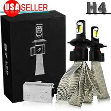 H4 9003 100W LED Headlight Bulbs Hi/Low Beam 10000LM Lamp 6000K High Power