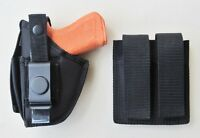 Gun Holster Hip Belt & Double Magazine Pouch COMBO for GLOCK 26 & 27 SAVE 20%