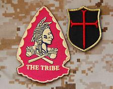 SEAL Team 6 NSWDG Replica Red Squadron Assault Team & 3D Mini Crusader Patch Set