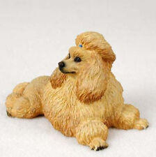 POODLE APRICOT DOG Figurine Statue Hand Painted Resin Gift Pet Lovers