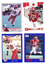 CFL ALLEN PITTS LOT OF 4 STAMPEDERS WITH ROOKIE CARD