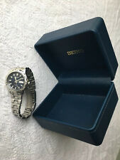 Seiko Mens Vintage Sports Watch Blue Silver Stainless Steel 7N43-8299