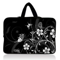 "Black 16 Inch 17"" 17.3"" Neoprene Laptop Netbook Sleeve Bag Case Cover +Handle"