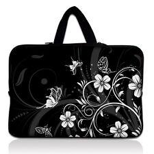"White Flower Soft Laptop Sleeve Bag Case +Handle For 17.3"" Apple MacBook Pro"