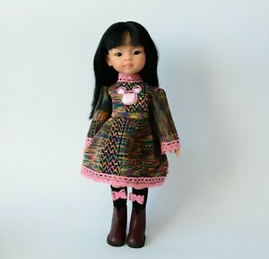 Minnie Mouse dress, shoes for Dolls 13 in: Paola Reina, Les Cheries Corolle, etc