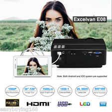 FULL HD 1080P Home Theater Projector HDMI SD USB VGA Multiscreen for Iphone PC