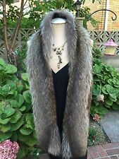 AMERICAN NATURAL RACCOON BOA SCARF WRAP EVENING made in the USA