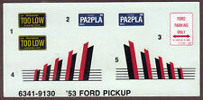 Waterslide full decal sheet Ford Pickup Street Machine model car part