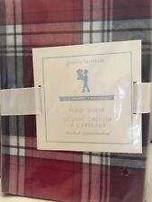 1 Pottery Barn Kids Teen Red Navy Plaid Standard Sham Christmas Arena