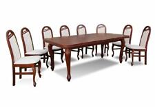 Esstisch + 8 Stühle Stuhl Esszimmer Set Essgruppe Klassischer Tisch Tische Z22