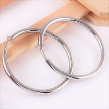#E121F NEW 4.5cm NON-PIERCED CLIP ON SPRING CLOSURE EARRINGS THICK TUBE POLISHED