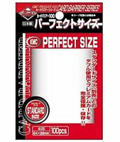 KMC Perfect Size Card Sleeves Barrier STANDARD SIZE 64x89mm 100pcs Japan Import