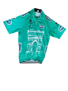 """Le Coq Sportif Green Short Sleeved Cycling Jersey Pit to Pit 15.5"""" le Tour Franc"""