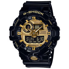 -NEW- Casio G-Shock Black Watch with Gold Tone Accents GA710GB-1A