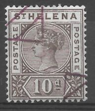 St. Helena Stamp -  QV 1896 - 10d Brown - Sg 52  - Used - see photo