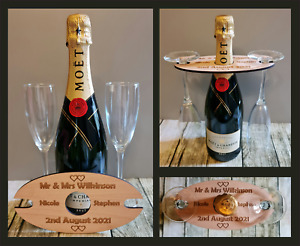 Personalised Wedding Gift Champagne Bottle Glass Holder Anniversary Gifts