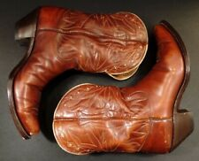 Vintage Nocona Boot Cowboy Western Pee Wee Boots Women's Size 8 Brown