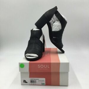 Soul Naturlizer Womens Christina Sandals Black Block Heels Studded 6 W New