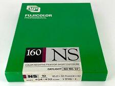 x10 Sheet Fujicolor Fujifilm 160 NS 4x5 102x127mm Color Negative Film JAPAN 068