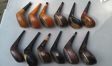 5Nn73 One Dozen Assorted Wood Golf Club Heads, Good Condition