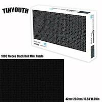 TINYOUTH 1000 Pieces Black Jigsaw Puzzles for Adults, Pure Color Mini Puzzle