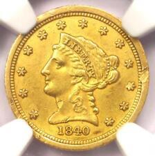 1840-C Liberty Gold Quarter Eagle $2.50 - NGC AU Details - Rare Charlotte Coin!