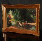 Vintage Paul Detlefsen Print THE BIG MOMENT Horse Brown & Bigelow Oak Frame