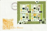 PAPUA NEW GUINEA 17 MAY 2006 WORLD CUP GERMANY 2006 M/SHEET FIRST DAY COVER SHS