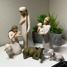 Willow Tree hand-painted sculpted figures, Nativity, 6-piece set _#26005