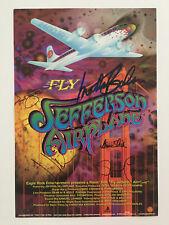 "Jefferson Airpline FLY Autograph Signed Poster 13"" x 19"" Grace Slick"