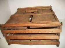 ANTIQUE HUMPTY DUMPTY EGG CARRIER WOOD SLATS AAFA PRIMITIVE 1903 BOX CRATE