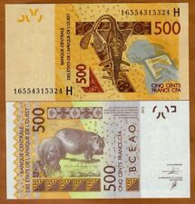 West African States, Niger, 500 francs, 2012 (2016), P-619H, UNC > Hippo