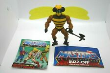 RARE Vintage MOTU 1984 HE-Man BUZZ OFF COMPLETE comic card Masters of Universe