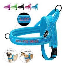 Reflective Personalized Front Lead Dog Harness Embroidered With Name Adjustable