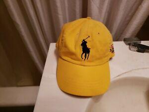 Polo Ralph Lauren Big Pony US Open 2008 Yellow Cap Hat One Size EUC