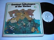 PROMO The Greatest Folksingers of the 'Sixties 1972 Double Stereo LP VG+ Dylan