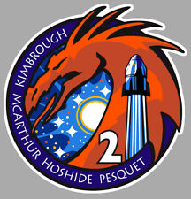 STICKER SPACEX PESQUET CREW DRAGON 2 NASA SPACE X ISS CD111