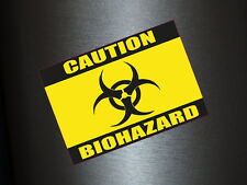 1 x adhesivo Caution Biohazard precaución veneno sticker Shocker tuning auto Fun