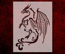 "Tribal Full Body Dragon 8.5"" x 11"" Stencil FAST FREE SHIPPING (544)"