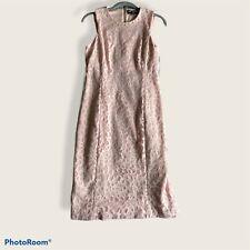 🌸KARL LAGERFELD Paris Sleeveless Rose Laser Cut Out  Pale Pink Size 4