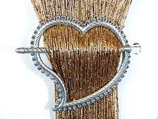 Cadena neto Cortina tie posterior De Corazón De Plata