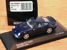 RARE EARLY ISSUE MINICHAMPS PORSCHE 911 (993) TURBO DARK MONTREAL BLUE 1:43 MINT