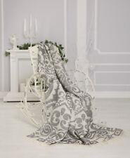 CHIC LIN laine plaid, couverture couverture Schabby Chic, Baroque 205x140cm